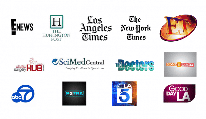 Logos of media outlets that Dr. Newman has been featured in.