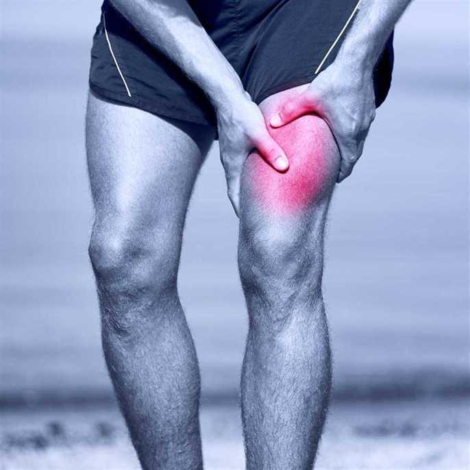Athlete with painful upper leg